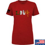 Men of Arms Apparel Ladies Irish Love T-Shirt T-Shirts SMALL / Red by Ballistic Ink - Made in America USA