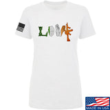 Men of Arms Apparel Ladies Irish Love T-Shirt T-Shirts SMALL / White by Ballistic Ink - Made in America USA