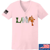 Men of Arms Apparel Ladies Irish Love V-Neck T-Shirts, V-Neck SMALL / Light Pink by Ballistic Ink - Made in America USA