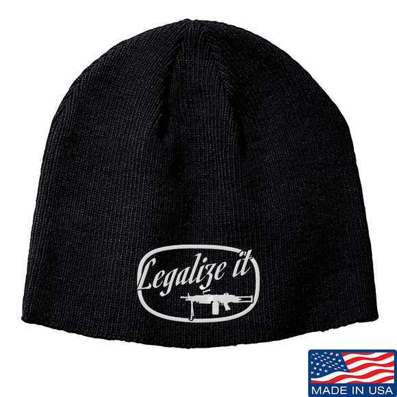 Men of Arms Apparel Legalize It Beanie Headwear Black by Ballistic Ink - Made in America USA