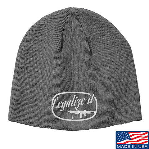 Men of Arms Apparel Legalize It Beanie Headwear Grey by Ballistic Ink - Made in America USA