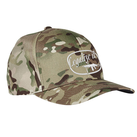 Men of Arms Apparel Legalize It Flexfit® Multicam® Trucker Cap Headwear [variant_title] by Ballistic Ink - Made in America USA
