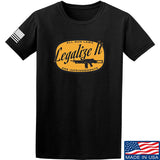 Men of Arms Apparel Legalize It T-Shirt T-Shirts Small / Black by Ballistic Ink - Made in America USA