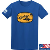 Men of Arms Apparel Legalize It T-Shirt T-Shirts Small / Blue by Ballistic Ink - Made in America USA