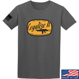Men of Arms Apparel Legalize It T-Shirt T-Shirts Small / Charcoal by Ballistic Ink - Made in America USA