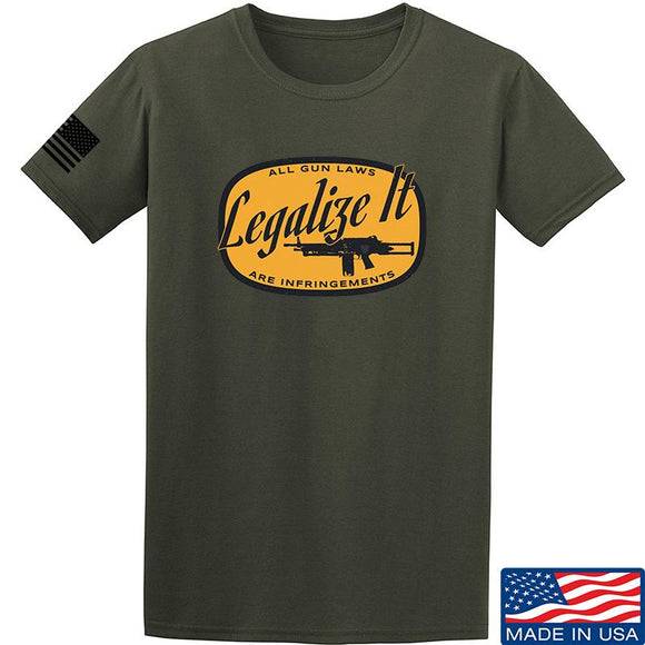 Men of Arms Apparel Legalize It T-Shirt T-Shirts Small / Military Green by Ballistic Ink - Made in America USA