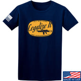 Men of Arms Apparel Legalize It T-Shirt T-Shirts Small / Navy by Ballistic Ink - Made in America USA