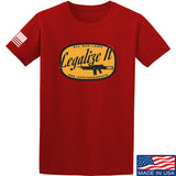 Men of Arms Apparel Legalize It T-Shirt T-Shirts Small / Red by Ballistic Ink - Made in America USA