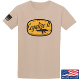 Men of Arms Apparel Legalize It T-Shirt T-Shirts Small / Sand by Ballistic Ink - Made in America USA