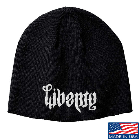 Men of Arms Apparel Liberty or Death Beanie Headwear Black by Ballistic Ink - Made in America USA