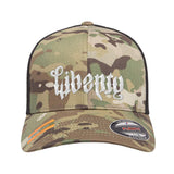 Men of Arms Apparel Liberty or Death Flexfit® Multicam® Trucker Mesh Cap Headwear [variant_title] by Ballistic Ink - Made in America USA