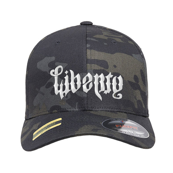 Men of Arms Apparel Liberty or Death Flexfit® Multicam® Trucker Cap Headwear Black Multicam S/M by Ballistic Ink - Made in America USA