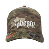Men of Arms Apparel Liberty or Death Flexfit® Multicam® Trucker Cap Headwear Multicam S/M by Ballistic Ink - Made in America USA