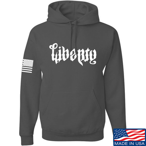 Men of Arms Apparel Liberty or Death Hoodie Hoodies Small / Charcoal by Ballistic Ink - Made in America USA