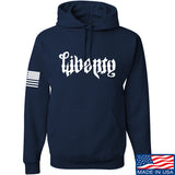 Men of Arms Apparel Liberty or Death Hoodie Hoodies Small / Navy by Ballistic Ink - Made in America USA
