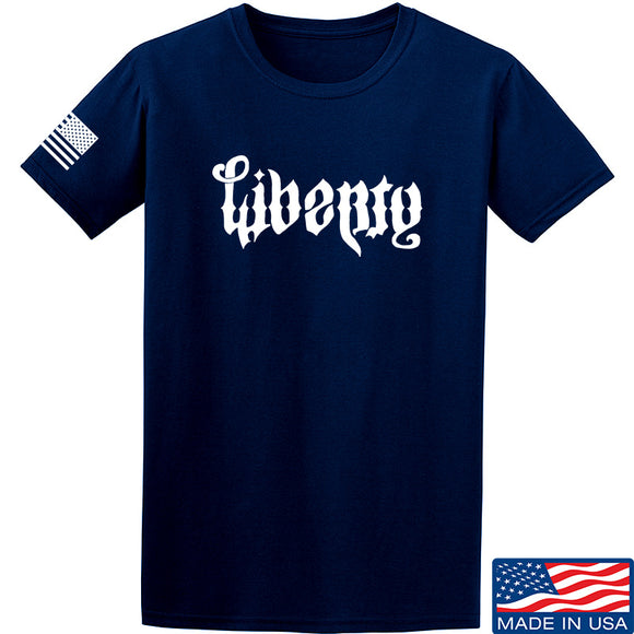 Men of Arms Apparel Liberty or Death T-Shirt T-Shirts Small / Navy by Ballistic Ink - Made in America USA