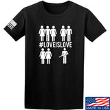 Men of Arms Apparel Love is Love T-Shirt T-Shirts Small / Black by Ballistic Ink - Made in America USA