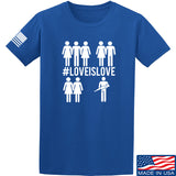Men of Arms Apparel Love is Love T-Shirt T-Shirts Small / Blue by Ballistic Ink - Made in America USA