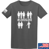 Men of Arms Apparel Love is Love T-Shirt T-Shirts Small / Charcoal by Ballistic Ink - Made in America USA