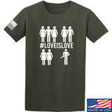 Men of Arms Apparel Love is Love T-Shirt T-Shirts Small / Military Green by Ballistic Ink - Made in America USA