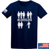 Men of Arms Apparel Love is Love T-Shirt T-Shirts Small / Navy by Ballistic Ink - Made in America USA