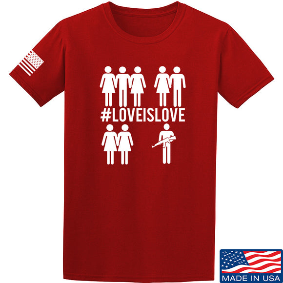 Men of Arms Apparel Love is Love T-Shirt T-Shirts Small / Red by Ballistic Ink - Made in America USA