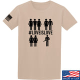Men of Arms Apparel Love is Love T-Shirt T-Shirts Small / Sand by Ballistic Ink - Made in America USA