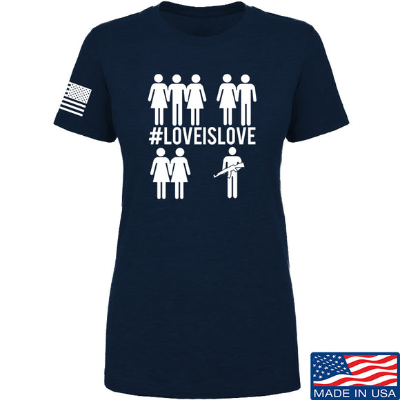 Men of Arms Apparel Ladies Love is Love T-Shirt T-Shirts SMALL / Navy by Ballistic Ink - Made in America USA