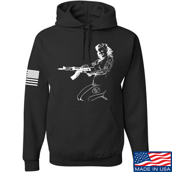 Men of Arms Apparel Marilyn AK Hoodie Hoodies Small / Black by Ballistic Ink - Made in America USA