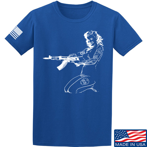 Men of Arms Apparel Marilyn AK T-Shirt T-Shirts Small / Blue by Ballistic Ink - Made in America USA