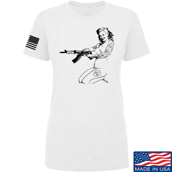 Men of Arms Apparel Ladies Marilyn AK T-Shirt T-Shirts SMALL / White by Ballistic Ink - Made in America USA