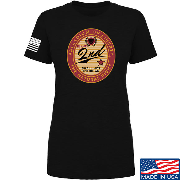 Men of Arms Apparel Ladies Paladium of Liberty T-Shirt T-Shirts SMALL / Black by Ballistic Ink - Made in America USA