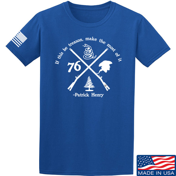 Men of Arms Apparel Patrick Henry Revolution T-Shirt T-Shirts Small / Blue by Ballistic Ink - Made in America USA