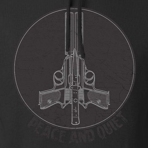 Men of Arms Apparel Peace And Quiet Hoodie Hoodies [variant_title] by Ballistic Ink - Made in America USA