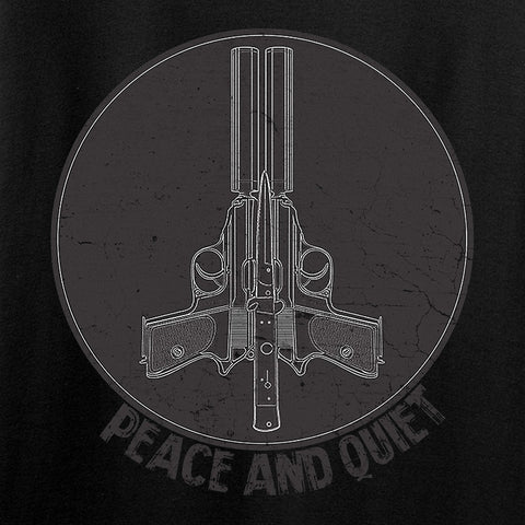 Men of Arms Apparel Peace And Quiet T-Shirt T-Shirts [variant_title] by Ballistic Ink - Made in America USA