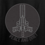Men of Arms Apparel Ladies Peace And Quiet T-Shirt T-Shirts [variant_title] by Ballistic Ink - Made in America USA