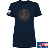 Men of Arms Apparel Ladies Peace And Quiet T-Shirt T-Shirts SMALL / Navy by Ballistic Ink - Made in America USA