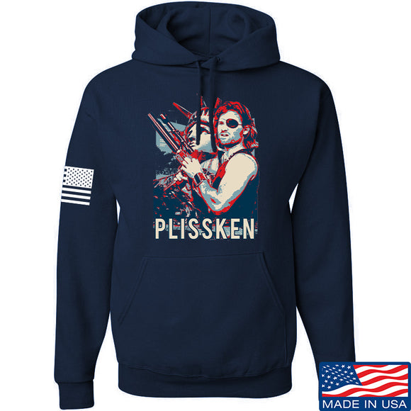 Men of Arms Apparel Plissken Hoodie Hoodies Small / Navy by Ballistic Ink - Made in America USA