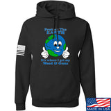 Men of Arms Apparel Protect the Earth Weed and Guns Hoodie Hoodies Small / Black by Ballistic Ink - Made in America USA