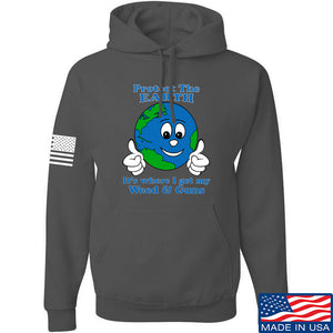 Men of Arms Apparel Protect the Earth Weed and Guns Hoodie Hoodies Small / Charcoal by Ballistic Ink - Made in America USA
