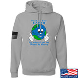 Men of Arms Apparel Protect the Earth Weed and Guns Hoodie Hoodies Small / Light Grey by Ballistic Ink - Made in America USA