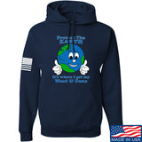 Men of Arms Apparel Protect the Earth Weed and Guns Hoodie Hoodies Small / Navy by Ballistic Ink - Made in America USA