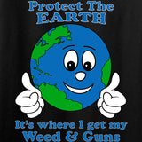 Men of Arms Apparel Protect the Earth Weed and Guns T-Shirt T-Shirts [variant_title] by Ballistic Ink - Made in America USA