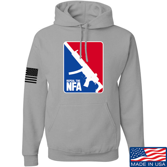 Men of Arms Apparel Repeal the NFA Hoodie Hoodies Small / Light Grey by Ballistic Ink - Made in America USA