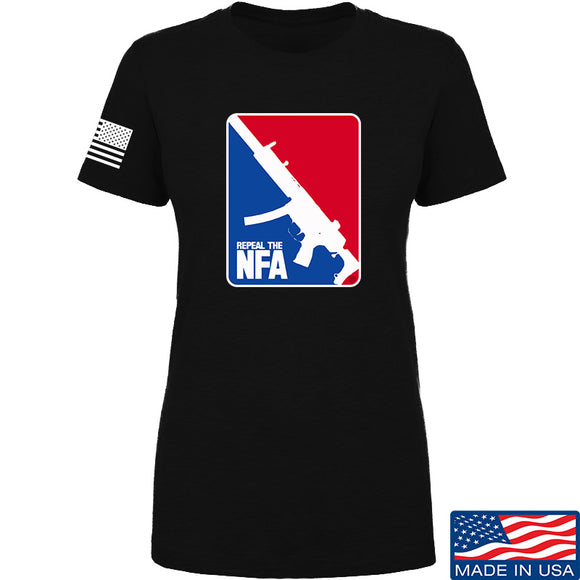 Men of Arms Apparel Ladies Repeal the NFA T-Shirt T-Shirts SMALL / Black by Ballistic Ink - Made in America USA