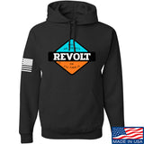 Men of Arms Apparel Revolt Give Me Liberty Hoodie Hoodies Small / Black by Ballistic Ink - Made in America USA