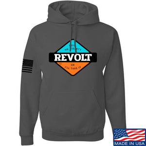 Men of Arms Apparel Revolt Give Me Liberty Hoodie Hoodies Small / Navy by Ballistic Ink - Made in America USA