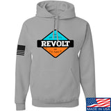Men of Arms Apparel Revolt Give Me Liberty Hoodie Hoodies Small / Light Grey by Ballistic Ink - Made in America USA