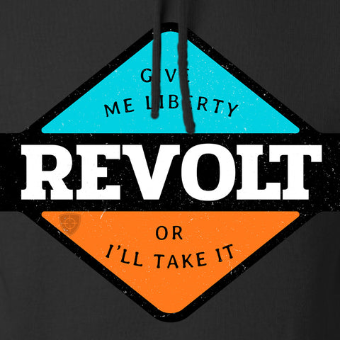 Men of Arms Apparel Revolt Give Me Liberty Hoodie Hoodies [variant_title] by Ballistic Ink - Made in America USA