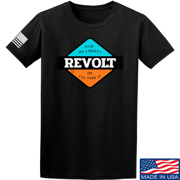Men of Arms Apparel Revolt Give Me Liberty T-Shirt T-Shirts Small / Black by Ballistic Ink - Made in America USA